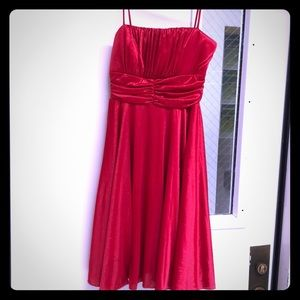 Shimmer Red party dress